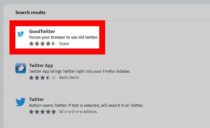 Firefox goodtwitter