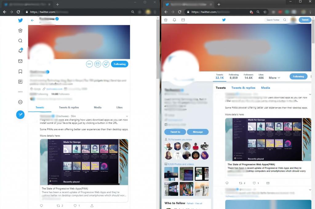 old Twitter design