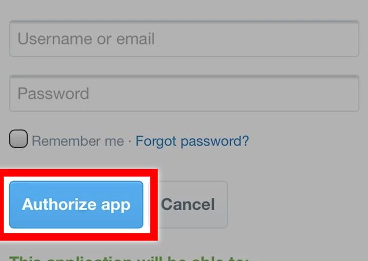 Authorize app