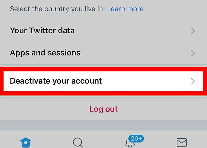 Deactivate your account