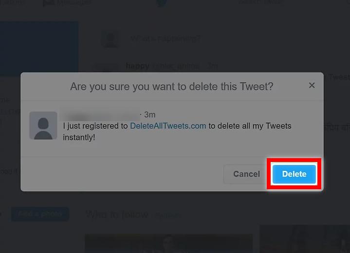 Delete to confirm