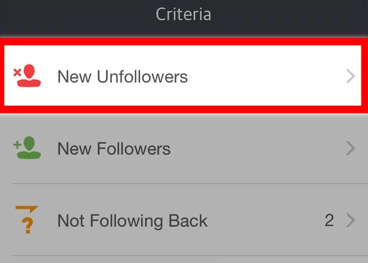 New Unfollowers