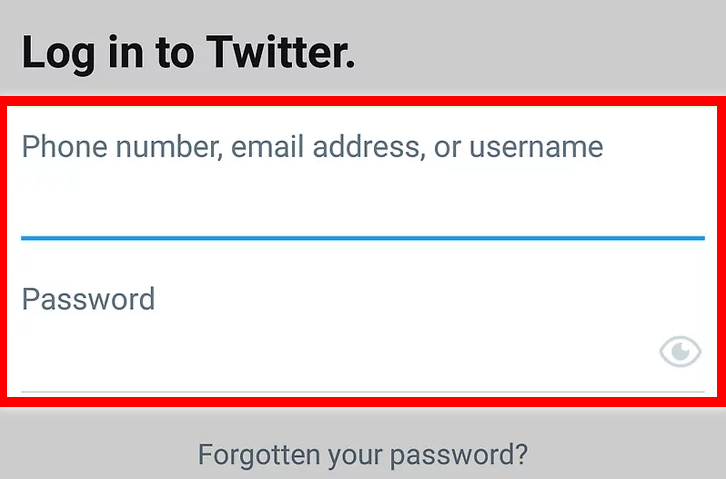 Sign into your Twitter account