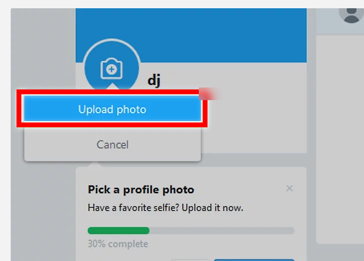 Upload a profile picture